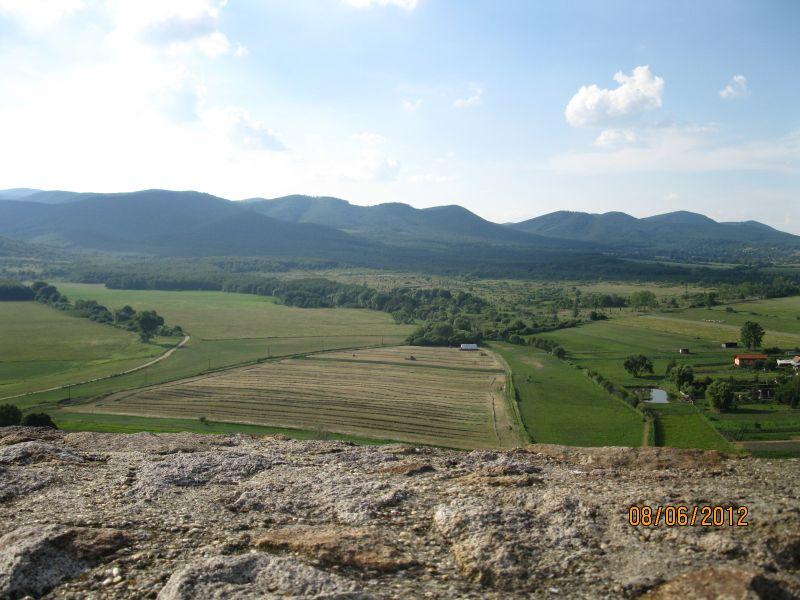 view from castle Nograd to ridge of Borzsony