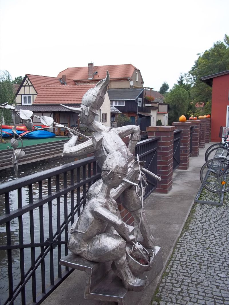 Spreebridge with fishers statue,cycling tour partner wanted
