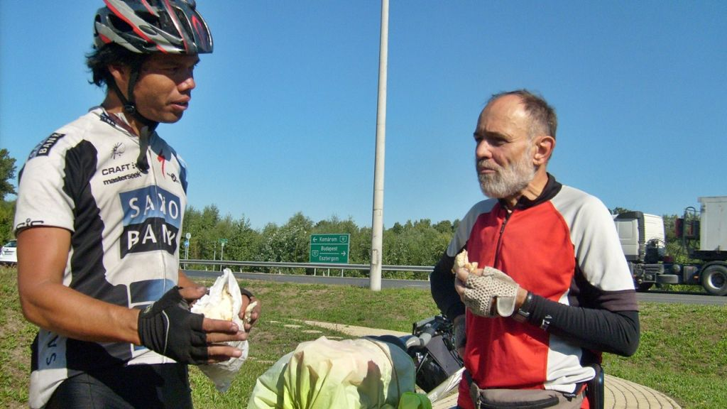 we talk about tactics with Keith, our cycling partner