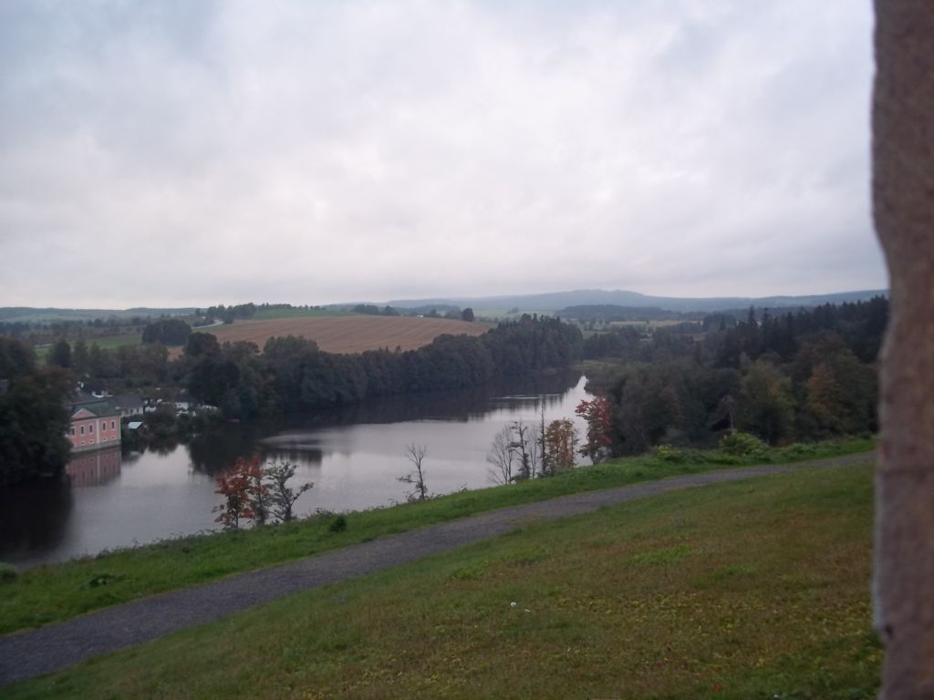 Sazava river from green hill cycling tour partner wanted
