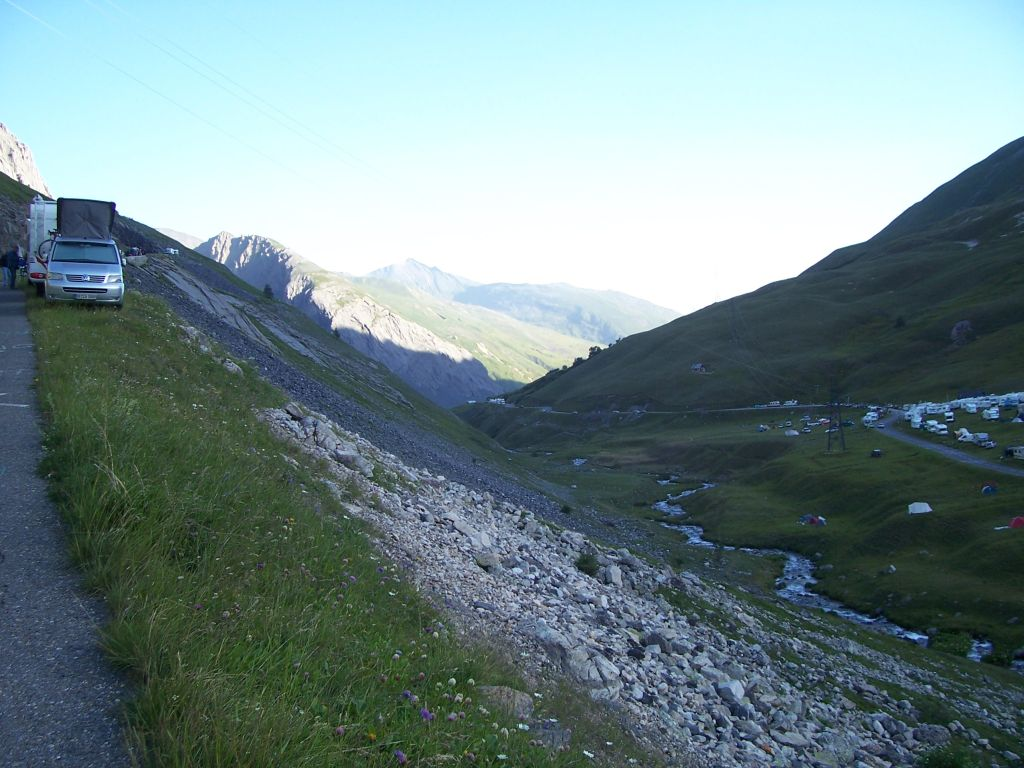 on a steep section of Galibier